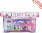 Nince Tie-Dye PARTY kit van hoge kwaliteit - Complete kit van 18 kleuren textiel - Tie Dye set - Tie Dye verf premium kwaliteit