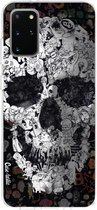 Samsung Galaxy S20 Plus hoesje Doodle Skull BW Casetastic Smartphone Hoesje softcover case
