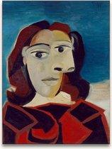 Handgeschilderd schilderij Olieverf op Canvas - Pablo Picasso 'Josephine in Rood'