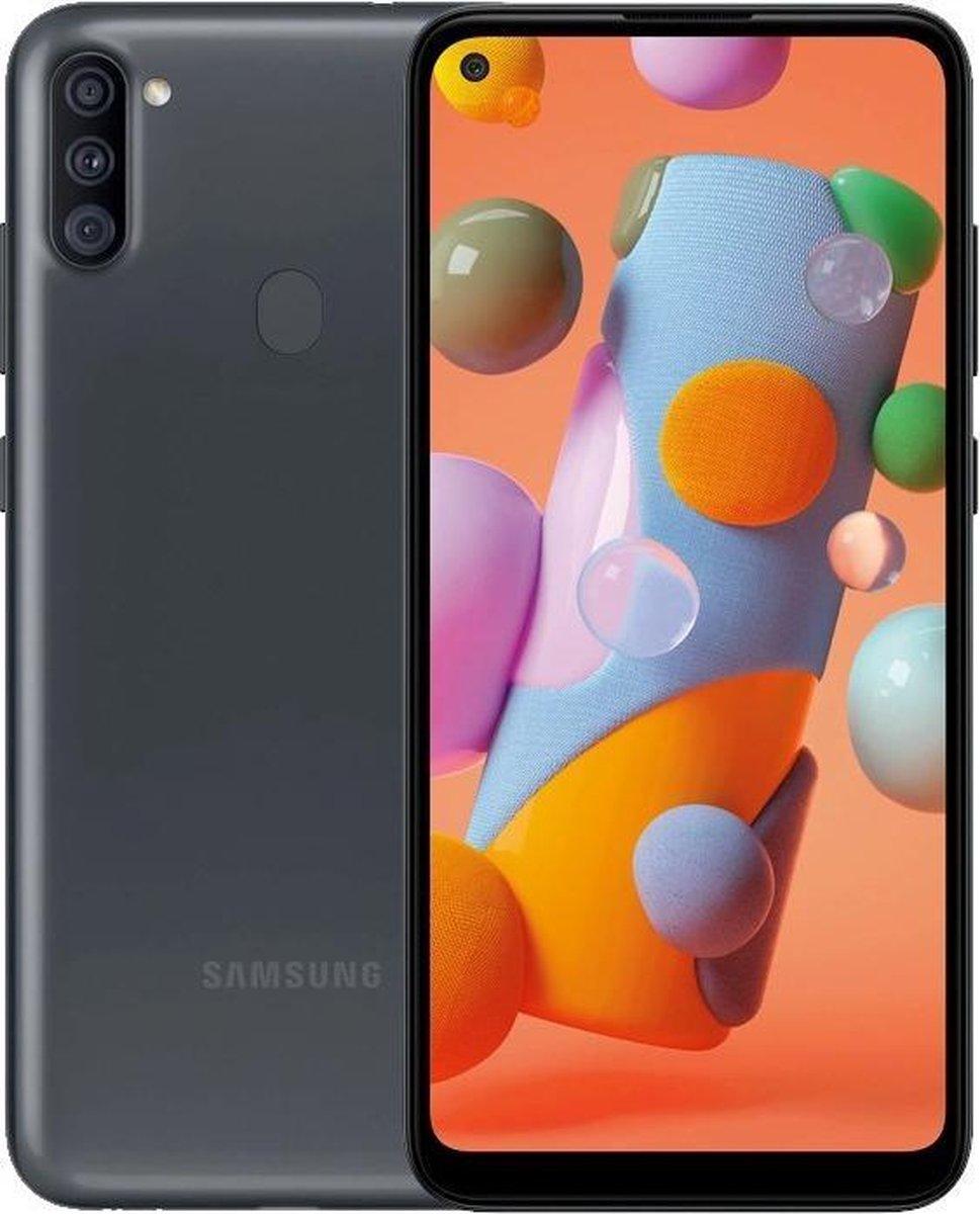 Samsung Galaxy A11 2020 32GB dual sim Zwart+16GB SD kaar+ Hoesje + Beschermgla + NL simkaart kopen