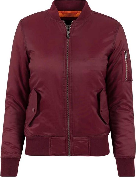 Urban Classics Basic dames bomber jacket bordeaux rood
