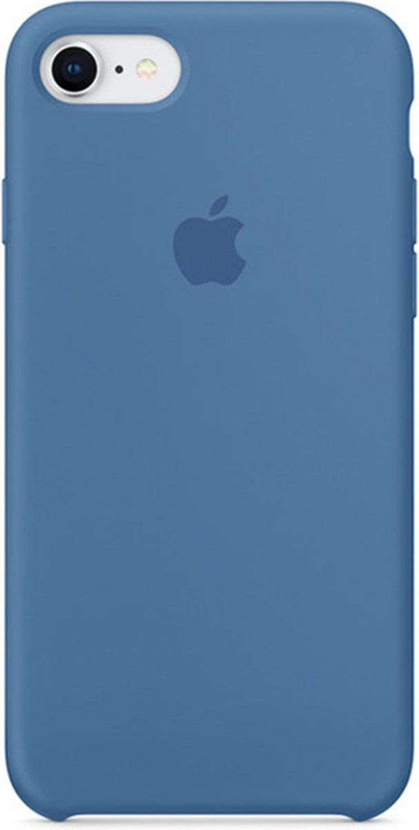 Apple Silicone Backcover iPhone SE (2020) / 8 / 7 hoesje - Denim Blue