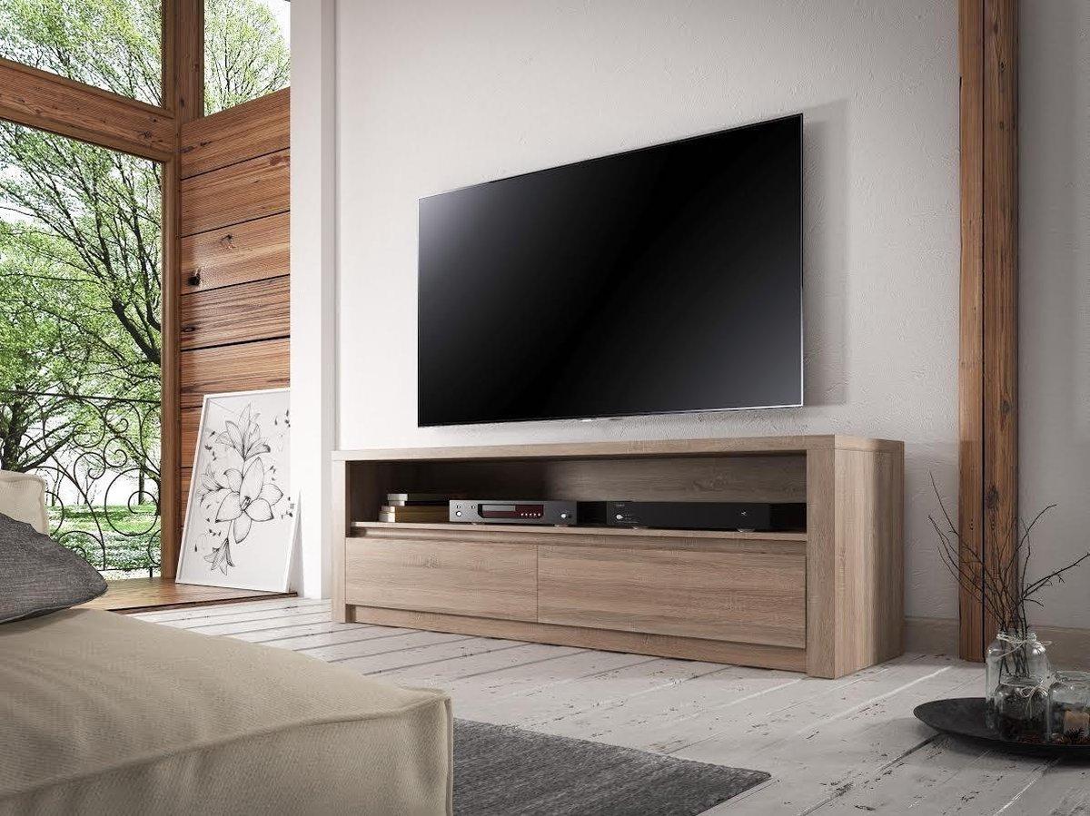 TV-Meubel Monaco - Truffel eiken - 130 cm - MEUBELLA