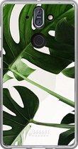 Nokia 8 Sirocco Hoesje Transparant TPU Case - Tropical Plants #ffffff