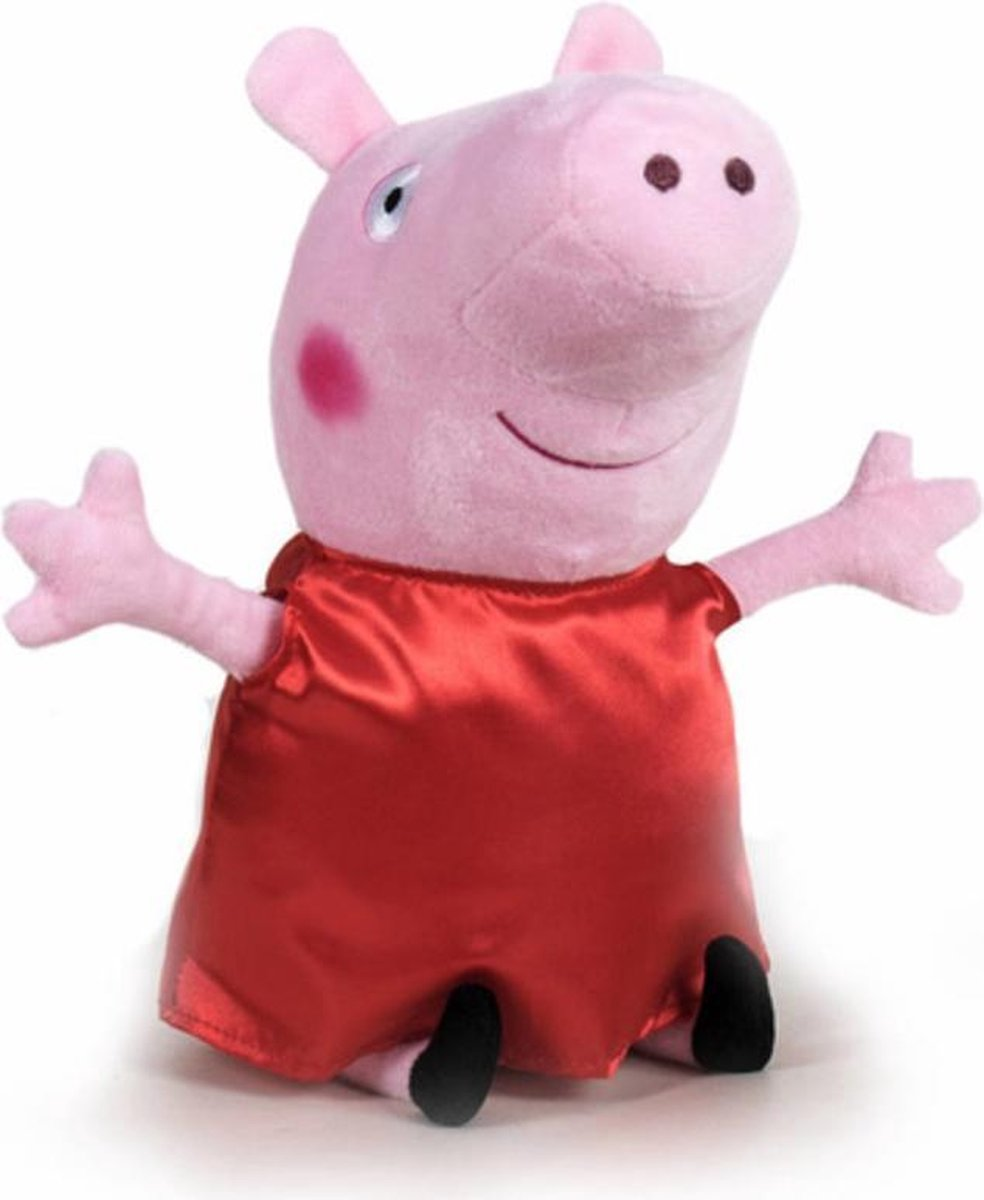 Peppa Pig Rood Fluweel Pluche Knuffel 20cm