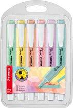 STABILO Swing Cool Pastel - Markeerstift - Etui Met 6 Pastel Kleuren