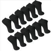 6 Paar Enkel Sokken Sneaker Socks Maat 39/42 Kleur Zwart Multipack Unisex Maat 39/42 - Effe Zwart - Enkel Sokken Heren - Enkel Sokken Dames