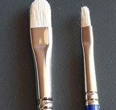 Set Arcana olie- acrylverfpenselen ovaal/kattentong serie 1035 nr. 4 & 8 varkenshaar/bristle