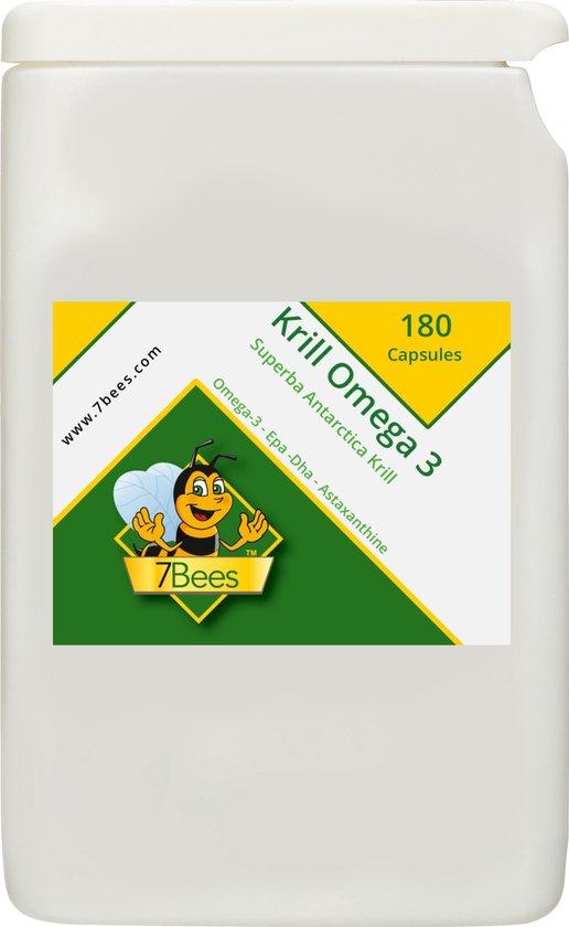 Krill olie Omega 3 500 mg - 180 Capsules - Visolie - Voedingssupplement