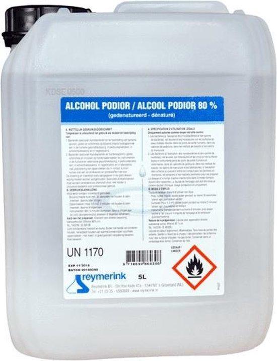 Reymerink Podior 80% Desinfectie Alcohol - 5 Liter - Desinfecterende Hand Alcohol Vloeistof