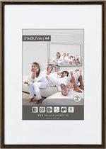 Halfronde Aluminuim Wissellijst - Fotolijst - 60x60 cm - Helder Glas - Donker Brons - 10 mm
