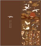 Moodadventures | Papier | Mapje Japans Knutselpapier Kraanvogels Bruin | 240 Stuks