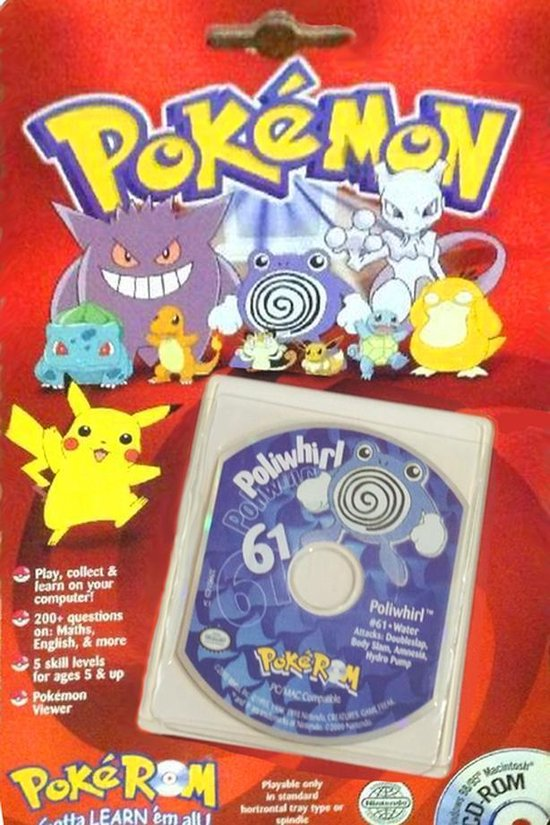 Pokemon 61 Poliwhirl – Windows – CD-ROM – (2000)