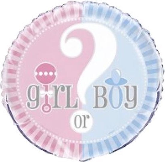 Gender Reveal Folieballoon - 46cm -