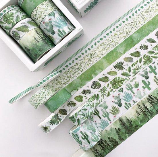 Afbeelding van Washi Tape Set 8 stuks| Bullet Journal/Scrapbook/Planner | Groen/Natuur speelgoed