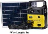 Zonnepaneel, stroomgenerator en verlichtingset
