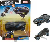 Hot Wheels auto Black Panther - Flip Fighters - 11 cm