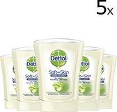 Dettol No-Touch Handzeep Navulling Hydraterende Aloë Vera - 5 x 250 ml - Voordeelverpakking