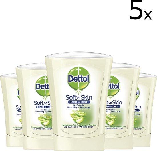Dettol Handzeep No Touch Navulling - Antibacterieel - Aloe Vera - 250ml x5