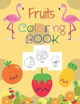 Fruits coloring book.