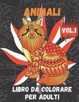 Animali Libro da Colorare per Adulti Vol.1