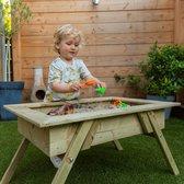 Improv Staande Zandbak incl deksel, nu met gratis beschermhoes | Zandtafel | Tafel | Hout | Tuin | 85 x 50 | Geïmpregneerd | schommel | wipwap | speeltuin | Improv | Kinder | Kinderen | Spelen