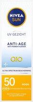 NIVEA SUN Gezichtszonnecrème - SPF 50 - 50 ml - Anti-age & Anti-Pigmentvlekken