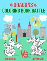 Dragons Coloring Book Battle: Dragon Coloring Book For Kids and Toddlers