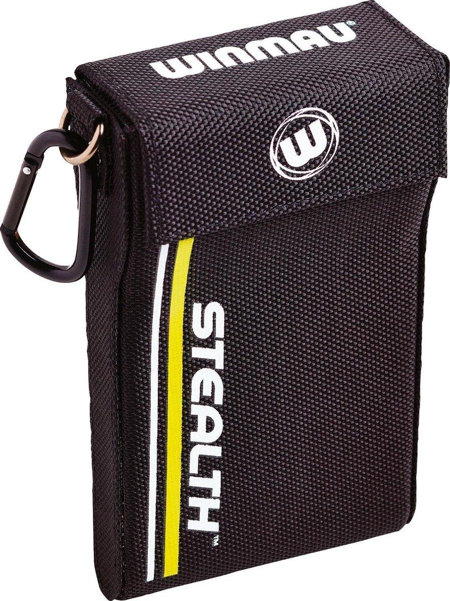 Winmau Stealth dartcase geel - 18 x 16 x 3cm
