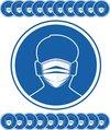 RX Goods® 20 Stuks Mondkapje Verplicht Stickers Corona & Coronavirus – Waarschuwingssticker – Bescherming – Covid-19 – 1. 50 M uit elkaar