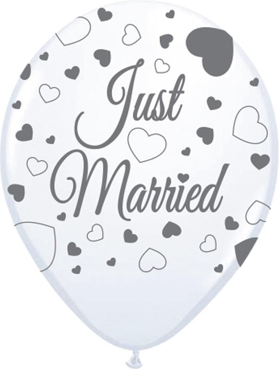 Just Married Ballonnen 30cm 8 stuks