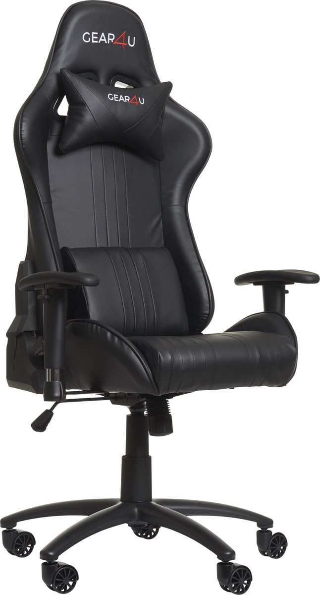Gear4U Elite gaming stoel - gamestoel / game stoel - zwart