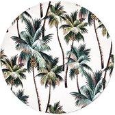 Moodadventures   Muismatten   Muismat Rond Vintage California Palmtrees   20x20