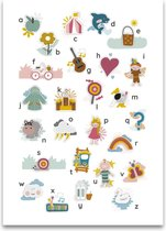 Mijn alfabet poster wit 50 x 70 cm
