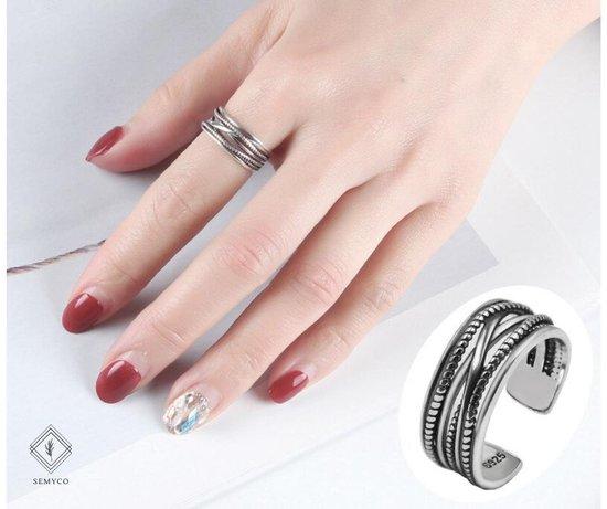 ring dames zilver Buddha - One-size - Verstelbaar - Cadeau voor vrouw verjaardag