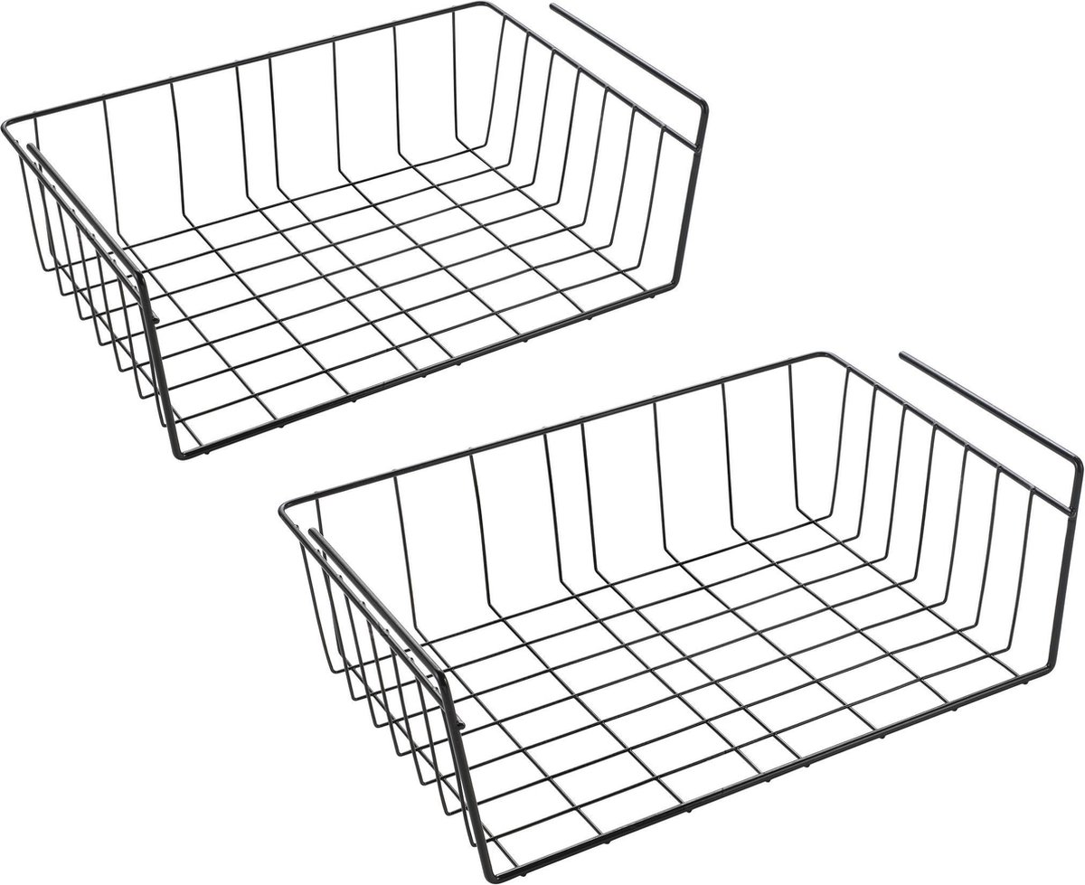 Tomado - Metaltex - Kasthangmanden Babette - Set van 2 hangmanden - 40 cm - Zwart