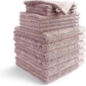 Walra Badgoedset Remade Cotton Blend - 6x Baddoek - 4x Gastendoek - 4x Washand - Roze