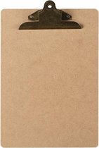 LPC  Klembord - clipboard - hout/mdf/hardboard- A4 -145 mm butterfly klem vintage