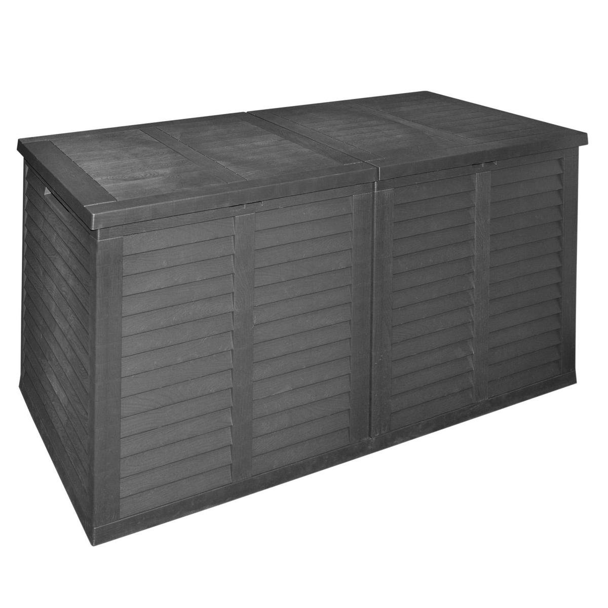 Opbergbox XXL - Tuinkist - Kunststof - 750L - Zwart