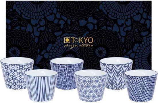 Tokyo Design Studio - Nippon Blue Koffiekopjes - 180 ml - 6 stuks