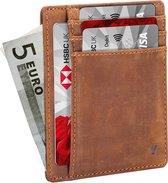 YONO Pasjeshouder Mannen – Slim Wallet Creditcardhouder – RFID – 6 pasjes – Bruin