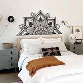 "LOTUS Flower ""Sutra Black""| Mandala Wall Art - 160cm x 81cm| Hoagard | Muurdecoratie | Woondecoratie |Origineel Cadeau | Bohemian Style Interior Design | Spiritual Gift"