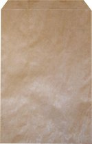 Bruine papieren - fournituren zakjes - cadeauzakjes 10x16cm per 1000 stuks