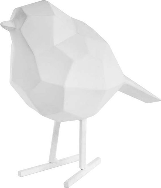 Statue bird small polyresin matt white