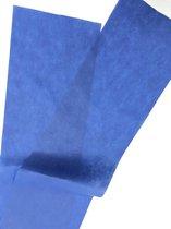 Stof  filter voor mondkapjes maken of mondmaskers maken 1x 2 meter Blauw 100% Polypropyleen