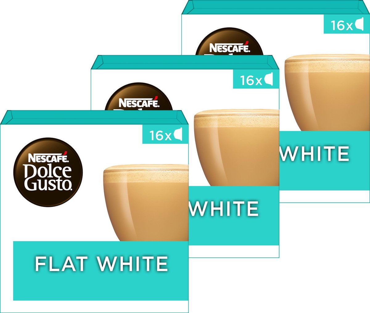 Nescafé Dolce Gusto capsules Flat White - 48 koffiecups