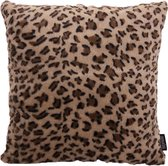 Hairy Leopard / Harige Luipaard Kussenhoes | Polyester | 45 x 45 cm