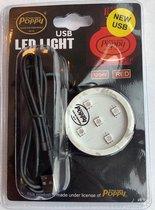 Poppy lampje ROOD -USB -12-24 Volt Led verlichting -Poppy Led base ROOD-USB- Poppy luchtje -Poppy auto - Poppy led - Poppy luchtverfrisser - Luchtverfrisser auto - vrachtwagen accessoires -lucht verfrisser - USB