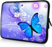 Sleevy 17,3 laptophoes blauwe vlinder - laptop sleeve - laptopcover - Collectie 250+ designs