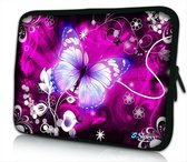 Sleevy 15.6 laptophoes grote paarse vlinder - laptop sleeve - laptopcover - Collectie 250+ designs